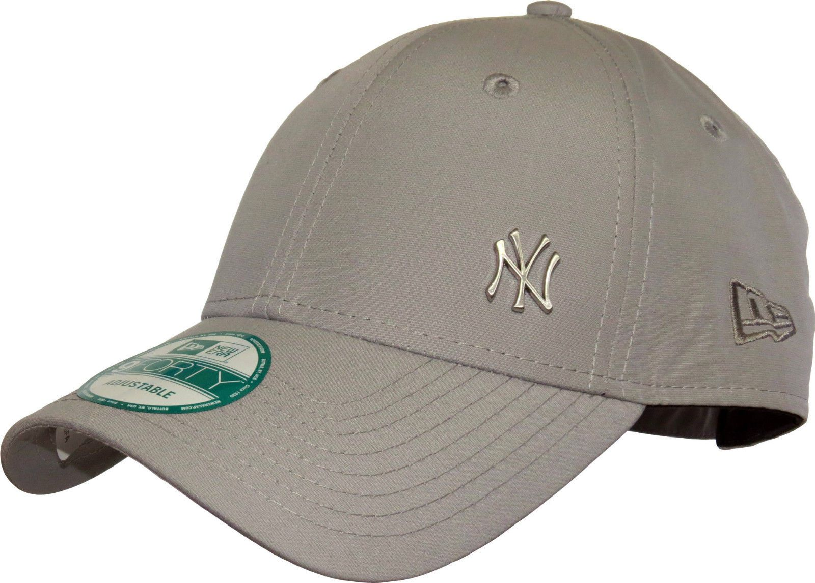 NEW ERA MENS 9FORTY BASEBALL CAP.NEW YORK YANKEES FLAWLESS GREY CURVED PEAK  HAT 098ce30f269